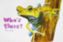 Ink drawing of a tree frog