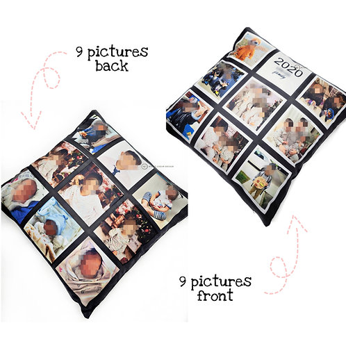 18 panels pictures - Pillow, personalized, memories, gift,  valentine,  mother