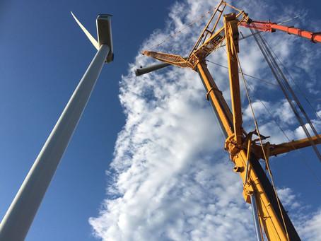 Wind Turbine assembled with CC Crane Hire