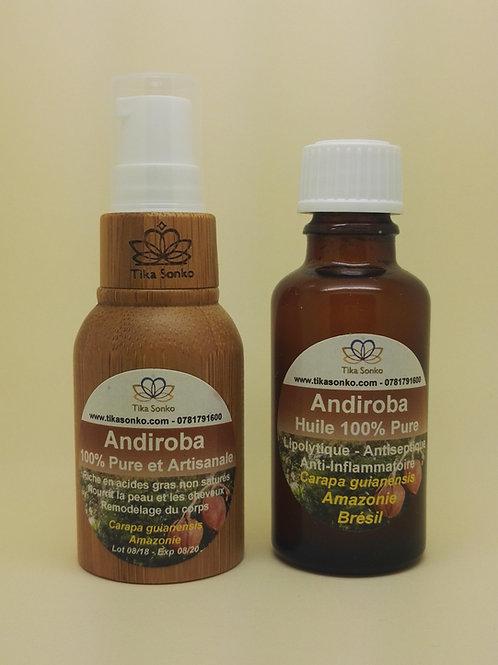 Andiroba 100% Pure Huile Artisanale Pompe 15ml avec recharge 30ml