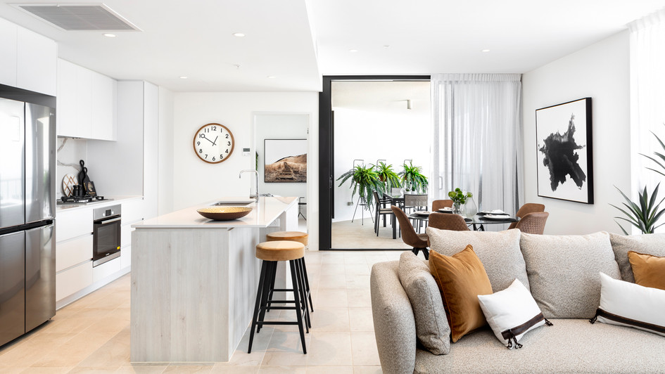 LIVING KITCHEN DINING