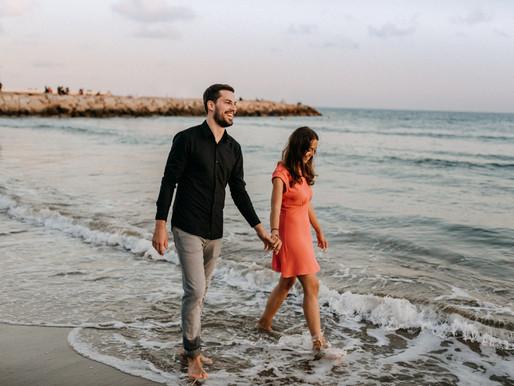 Paarfotos in Sitges in Spanien