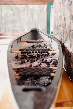 beer in canoe