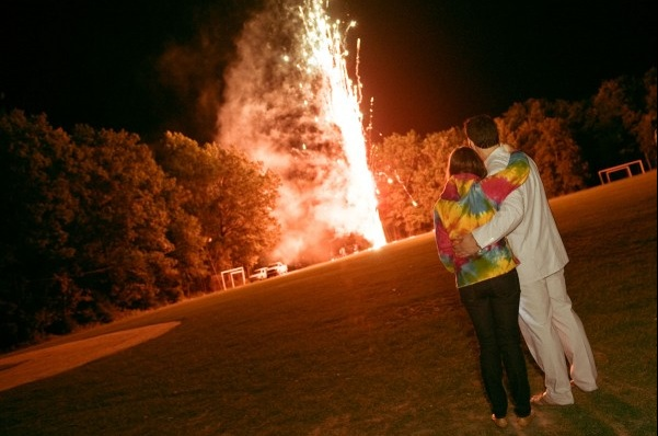 Pocono wedding venue with fireworks