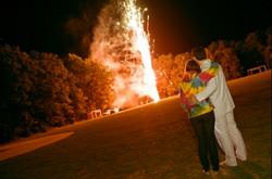 Pocono wedding venue with fireworks