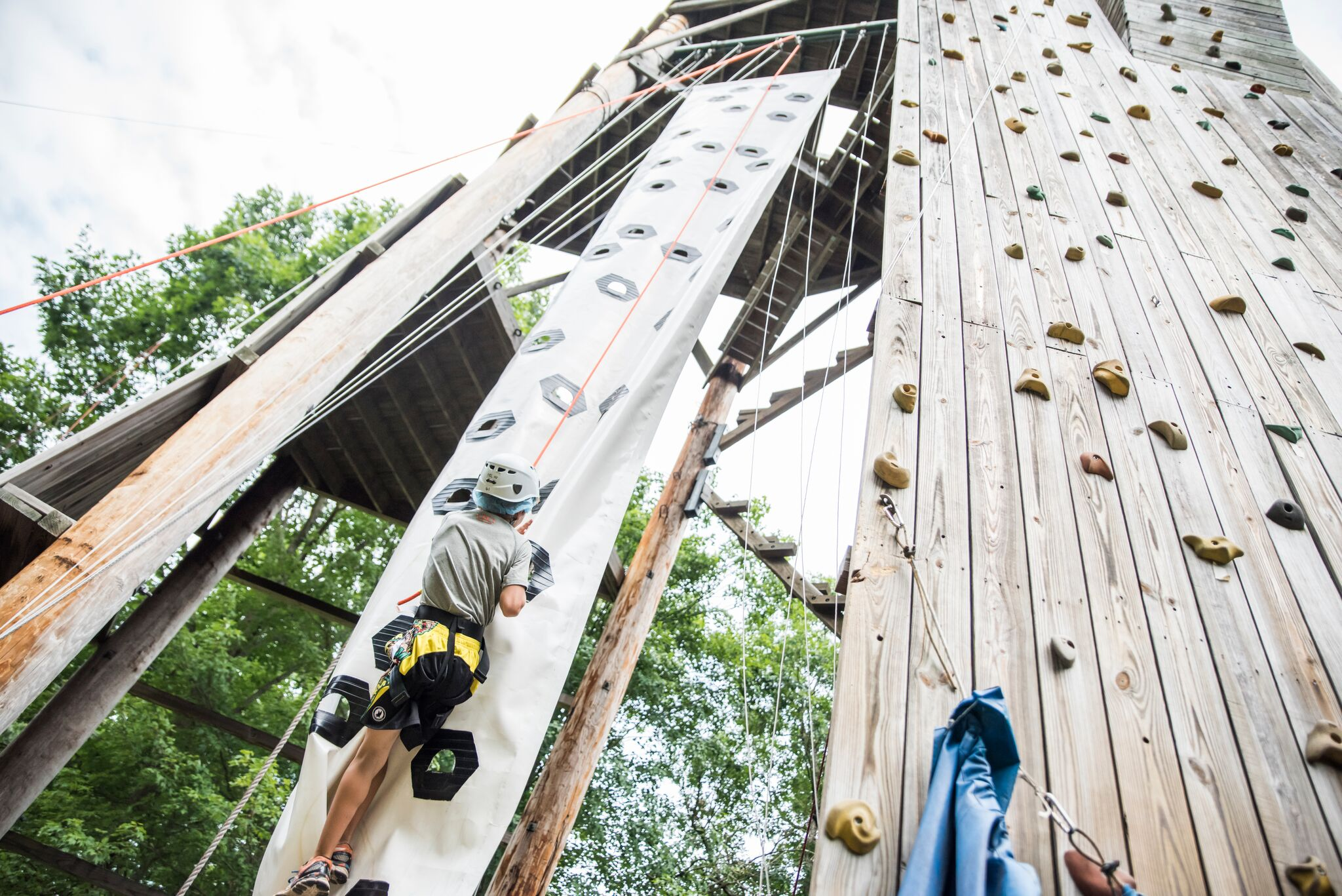 Climbing wall at Pine Forest Camp