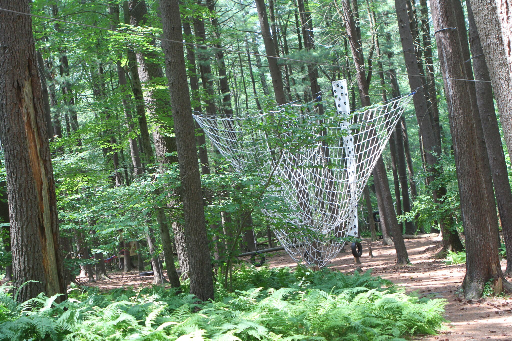 Adventure course at Camp Timber Tops