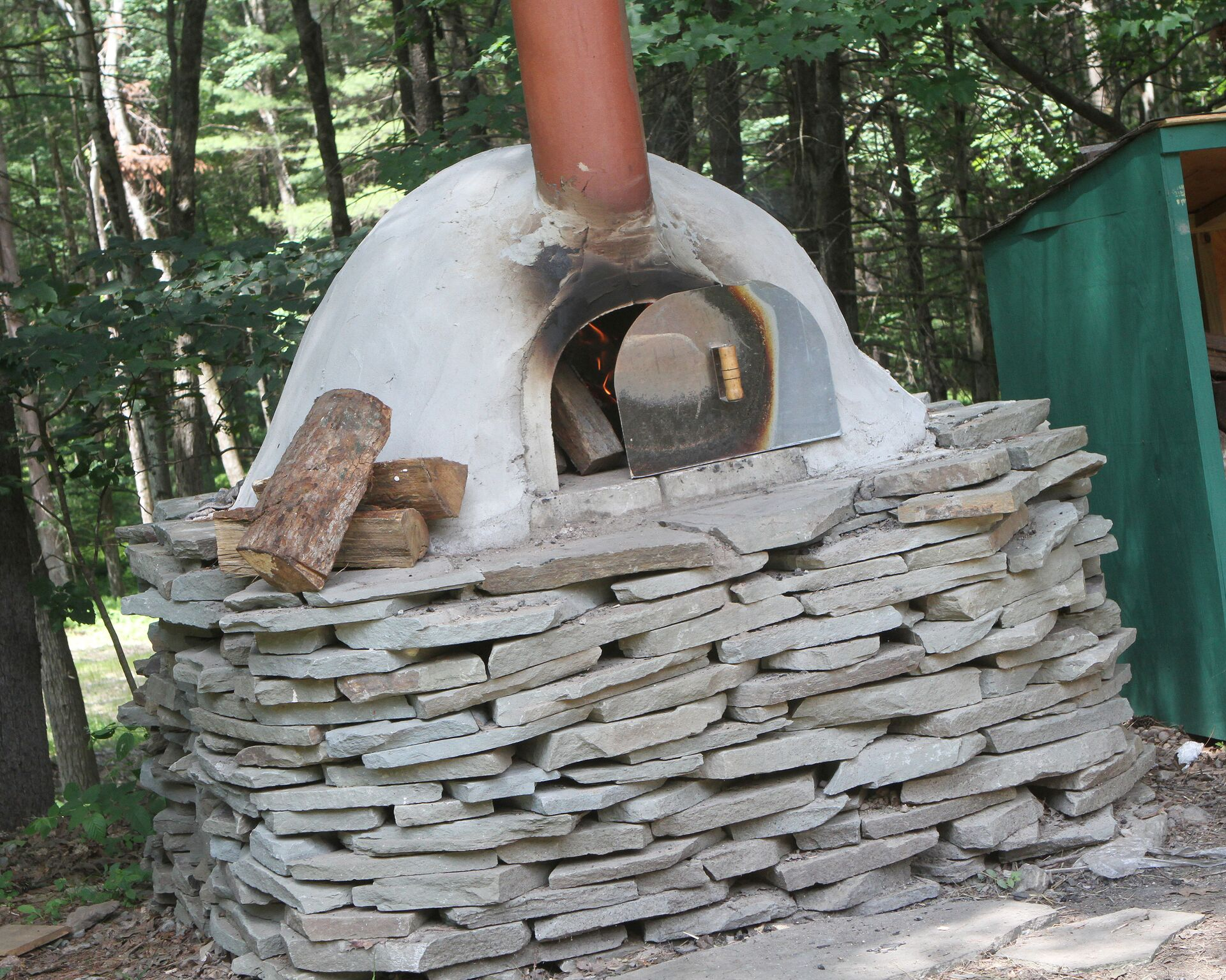 Pizza oven at Camp Timber Tops