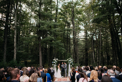 ceremony with tall trees