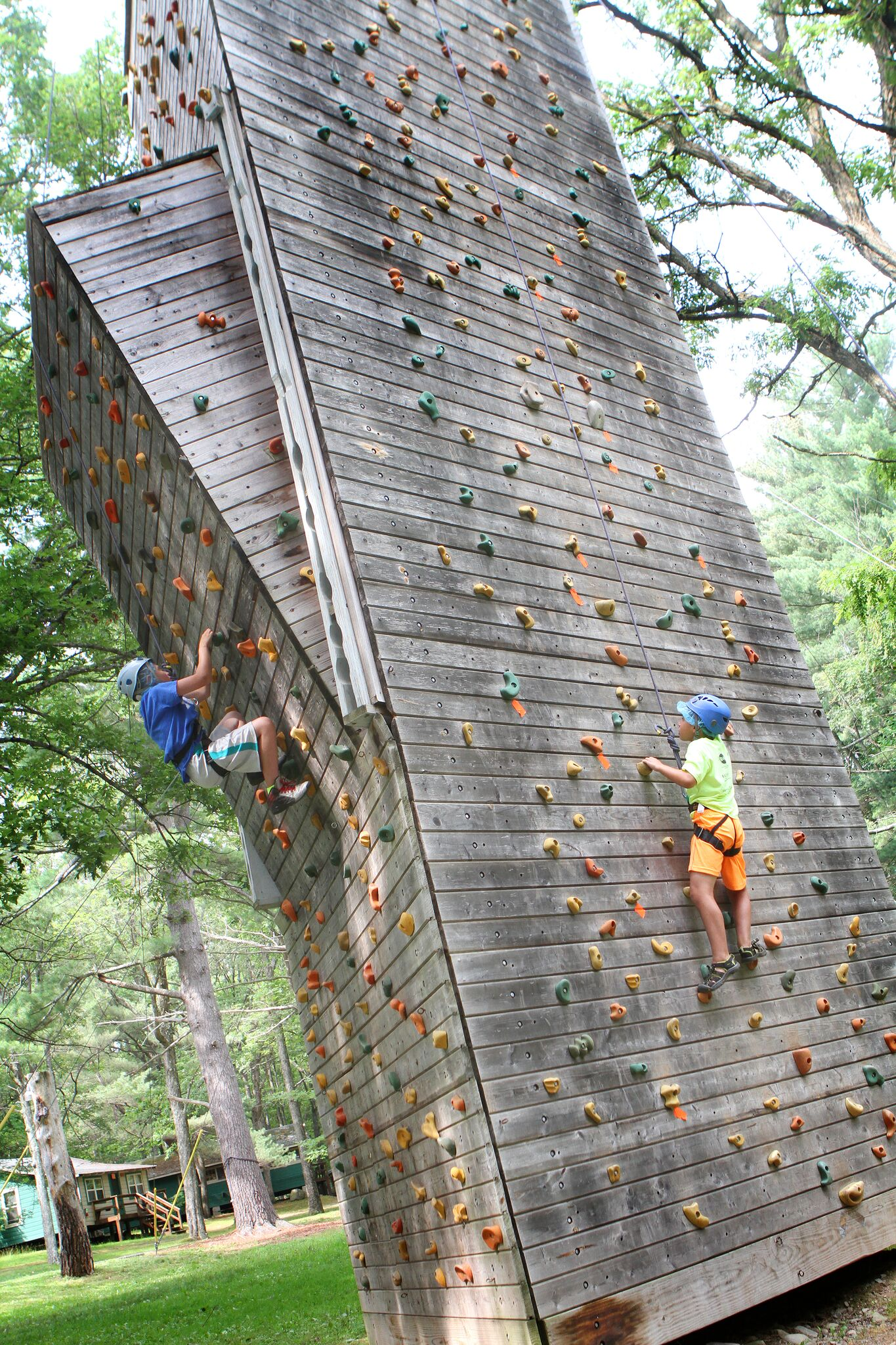 Climbing wall at Lake Owego Camp
