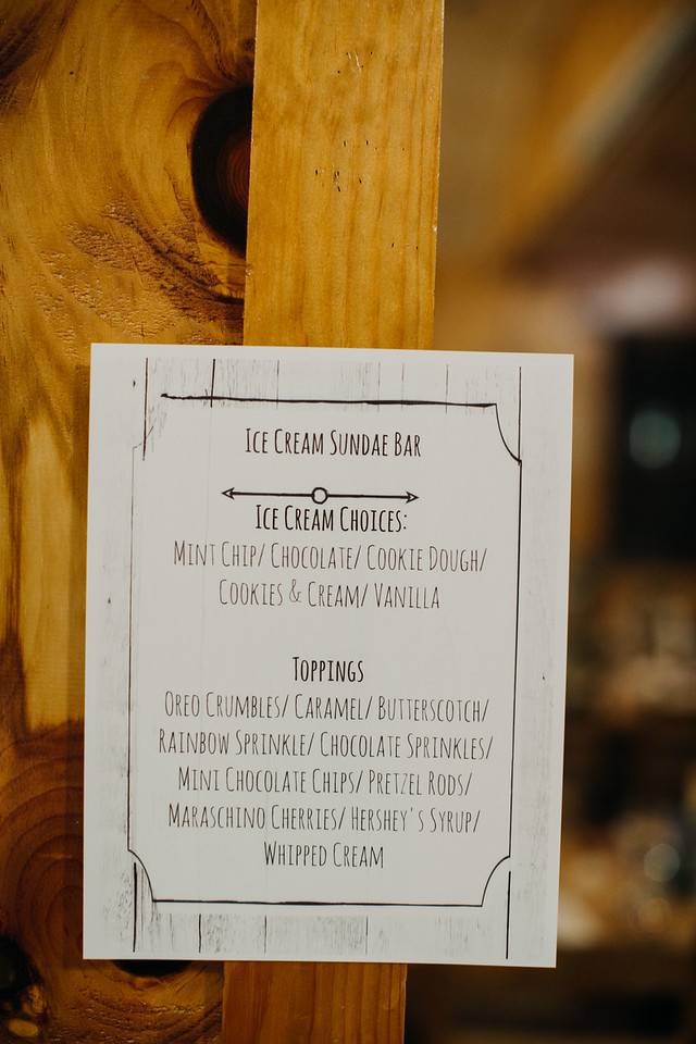 sundae bar menu