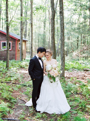 Wedding in the woods at Camp Timber Tops Wedding Venue