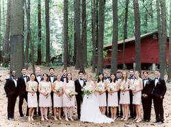 Wedding venue with cabins
