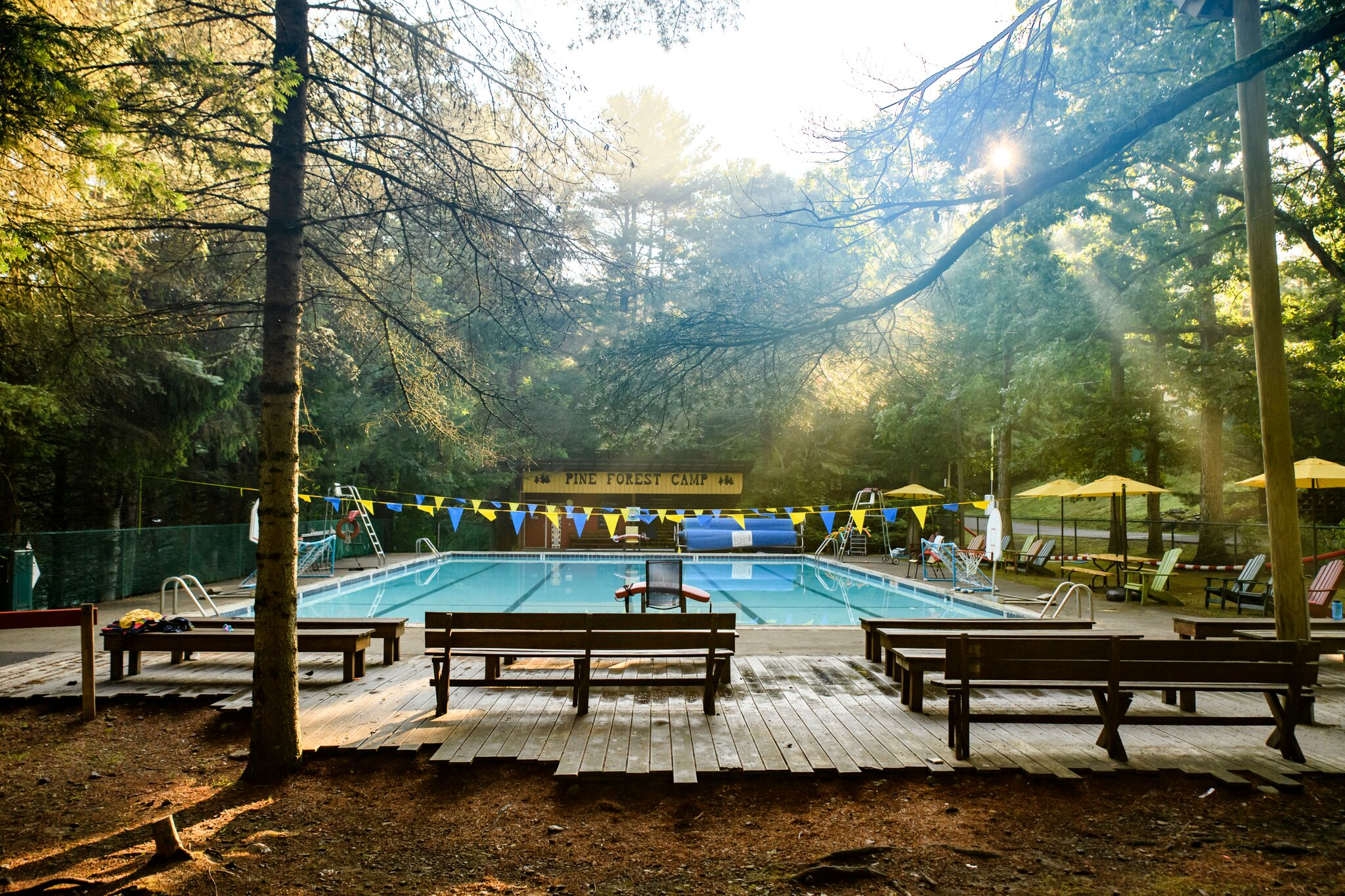 Boy's Pool at Pine Forest Camp
