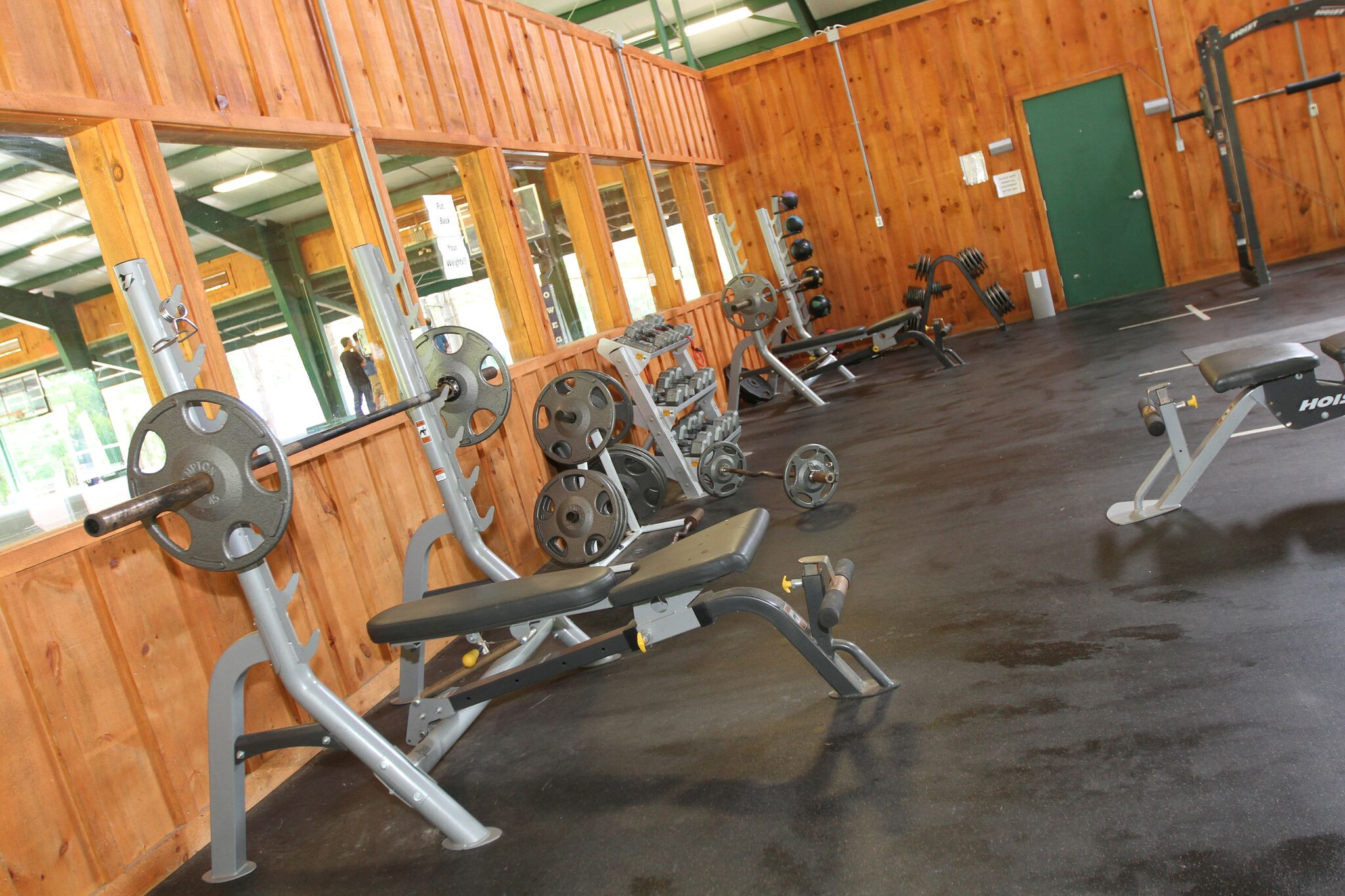 Fitness room at Lake Owego Camp