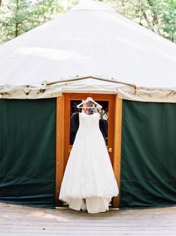 Poconos wedding venue with Yurts