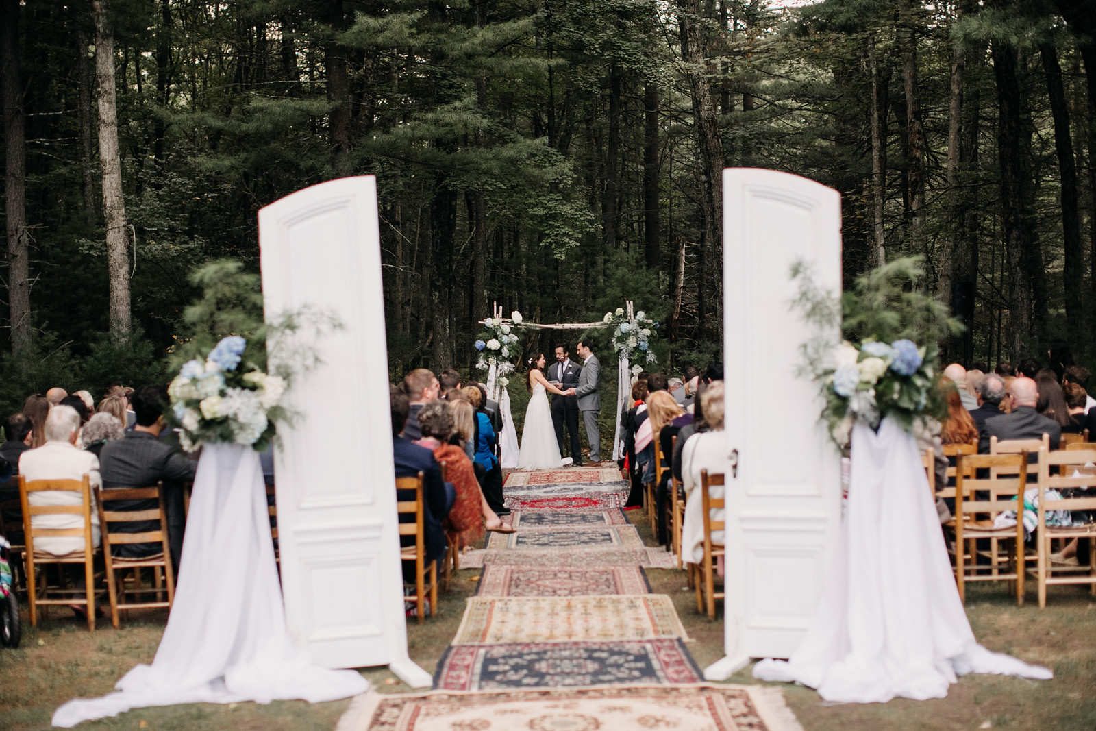 ceremony with doors