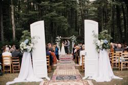 ceremony with doors
