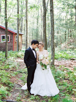 Woodsy camp wedding venue