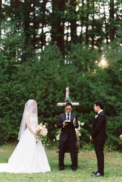 Woodsy wedding ceremony venue