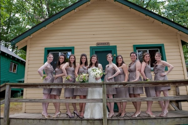 Rustic camp wedding venue