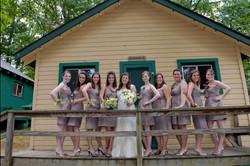 Rustic camp wedding venue