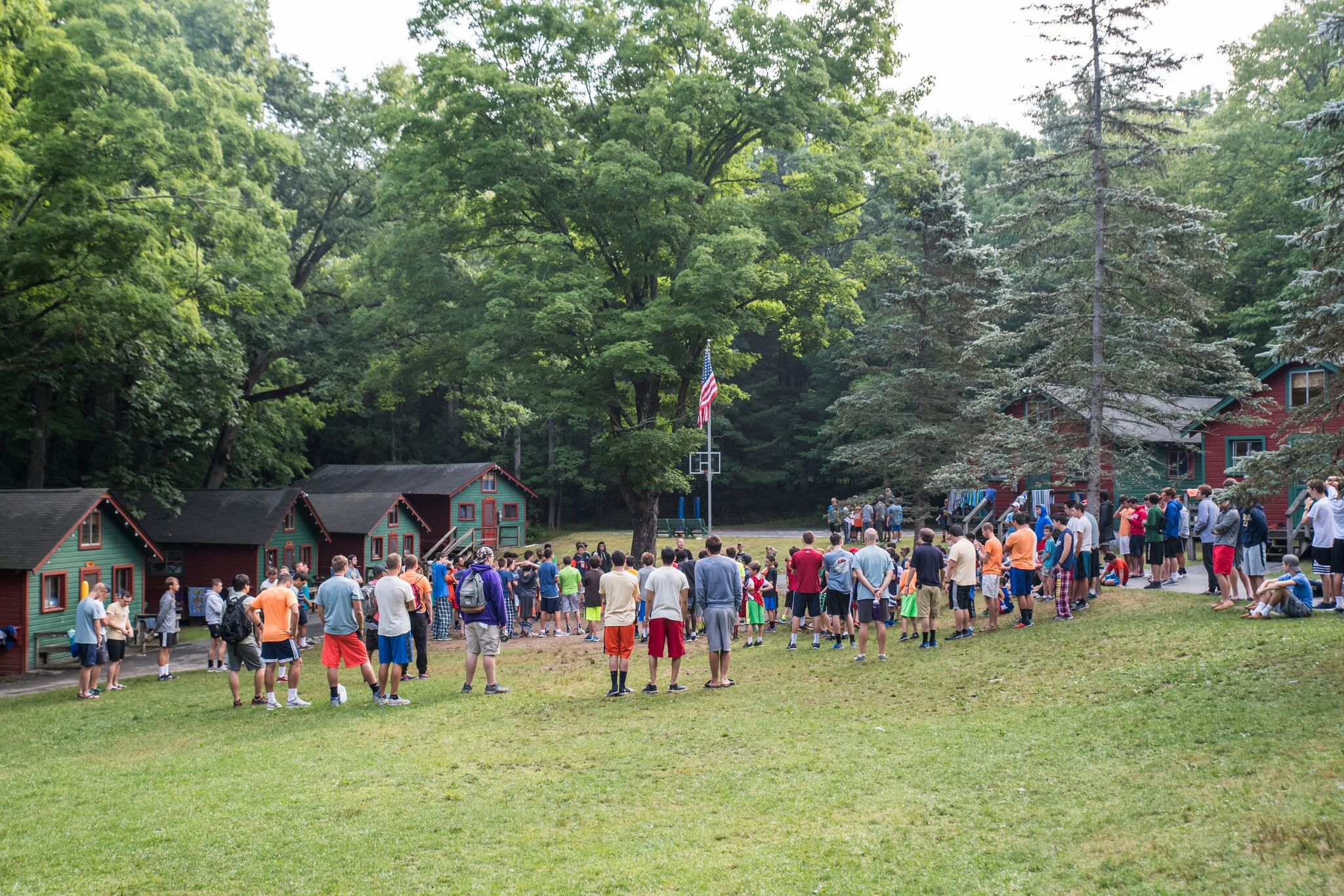 Flag Pole at Pine Forest Camp
