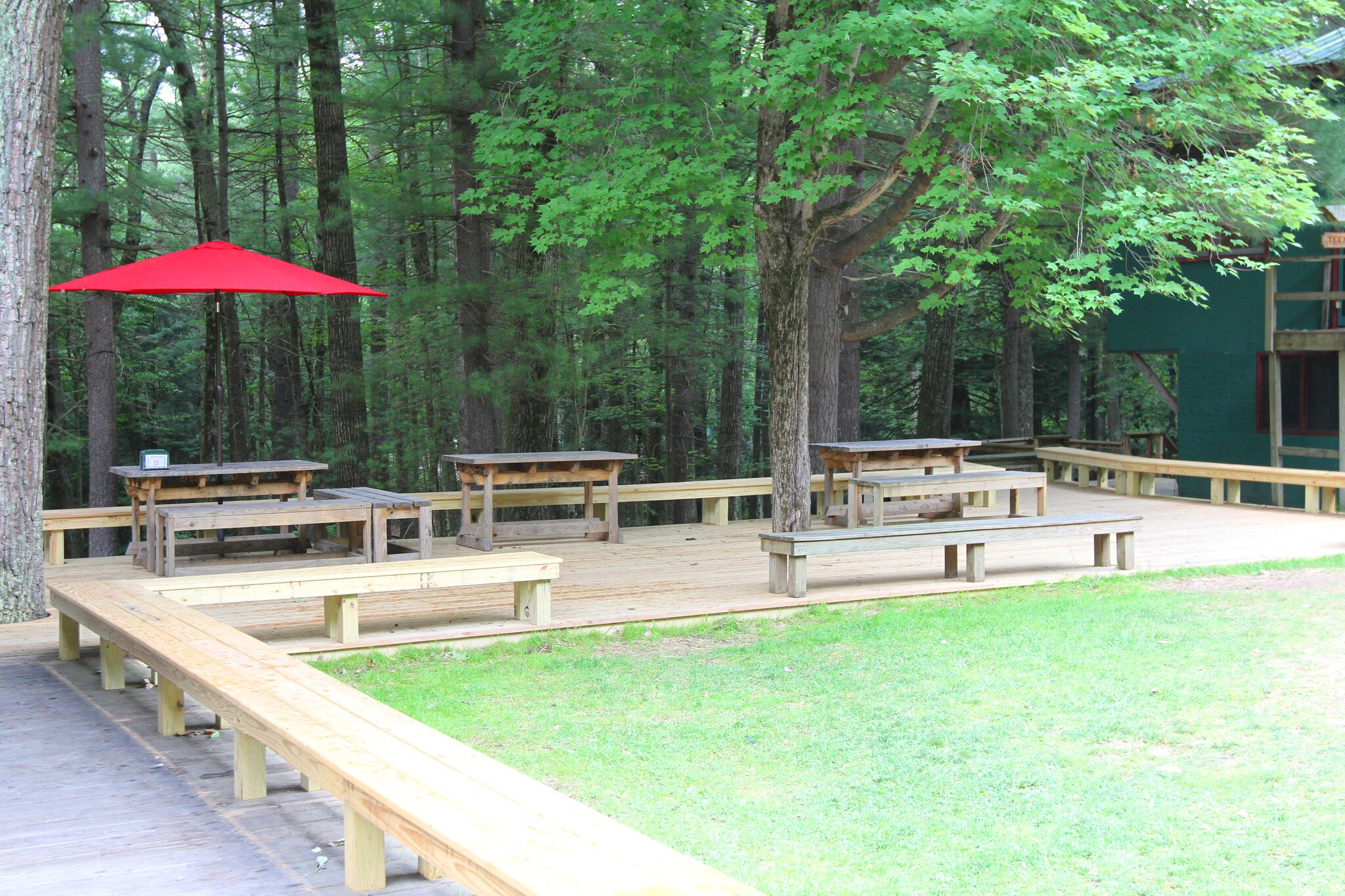 Canteen patio at Camp Timber Tops