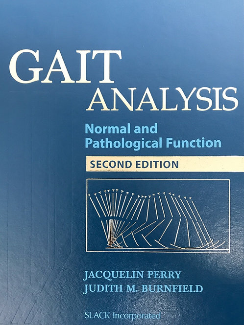 Gait Analysis: Normal and Pathological Functional, 2nd Edition