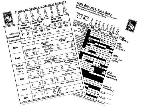Gait Analysis Reference Card
