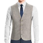 Waistcoat  4b no lapel, rounded bottom.p