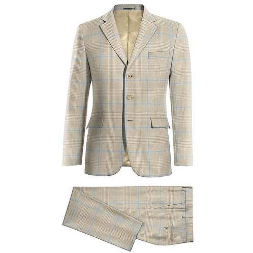 Linen suit, 3 button, 2 piece