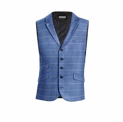 Blue check waistcoat w lapels. .jpg