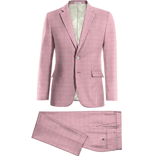 Seersucker Suit,  2 button, 2 piece