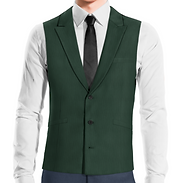 Waistcoat 3b nothed lapel stright bottom