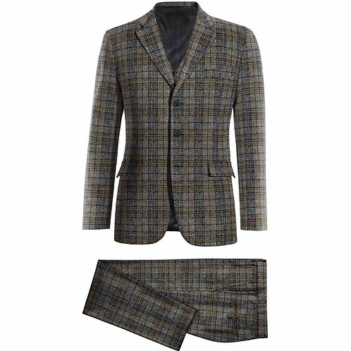 3 Piece 3 Button Suits, Tweed