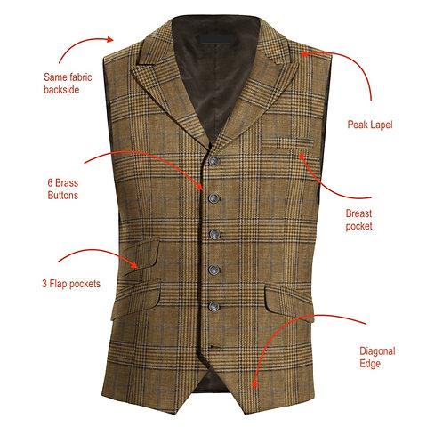 Waistcoat 6B w peak lapels
