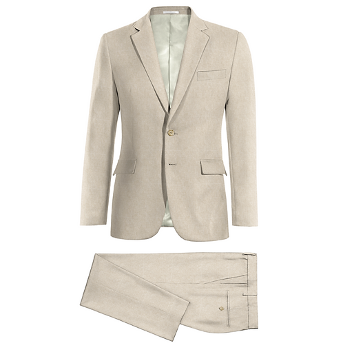 Linen suit, 2 button, 2 piece