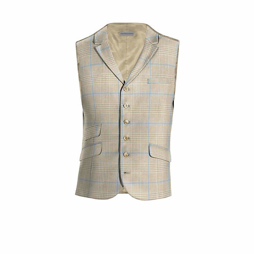 Waistcoat in linen with 6 Buttons