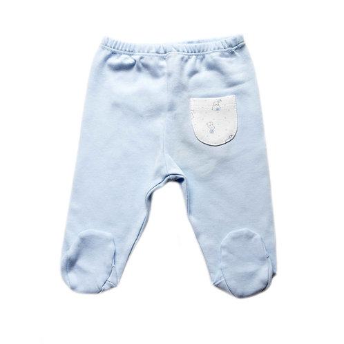 Pantaloni da neonato con piedi in cotone biologico bunny boy