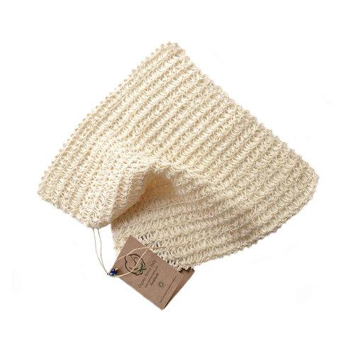 Organic cotton hand knit wash cloth