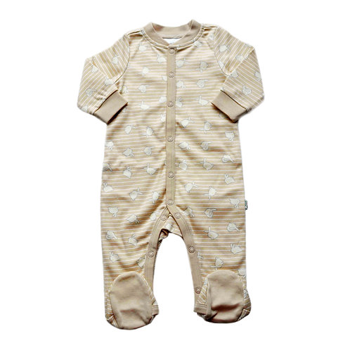 Organic Cotton Baby Footed Jumpsuit Bunny