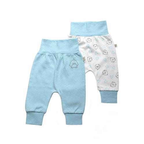 Organic Cotton Baby Pants 2-pack Penguin