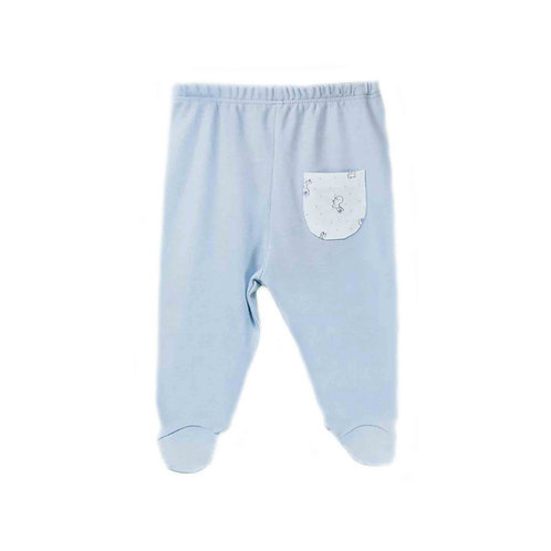 Organic cotton footed baby pants - Bunny boy