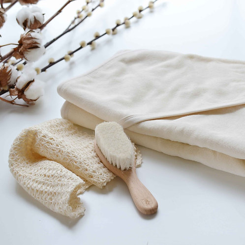 Organic Cotton Hooded Baby Towel  & Washcloth