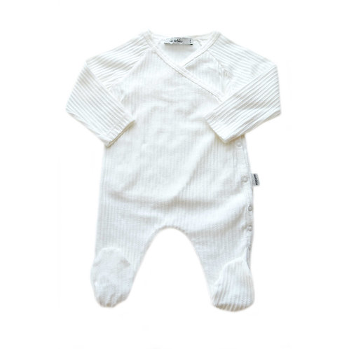 Organic Ribbed Cotton Baby Jumpsuit