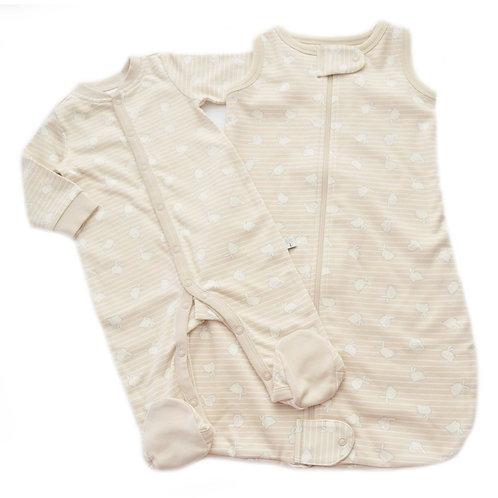 Set nanna per neonati in cotone biologico Bunny