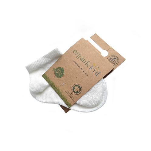 3-pack Organic Cotton Baby Socks White