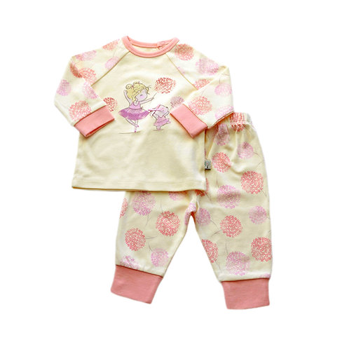 Organic Cotton Baby Pyjama Pink Bloom