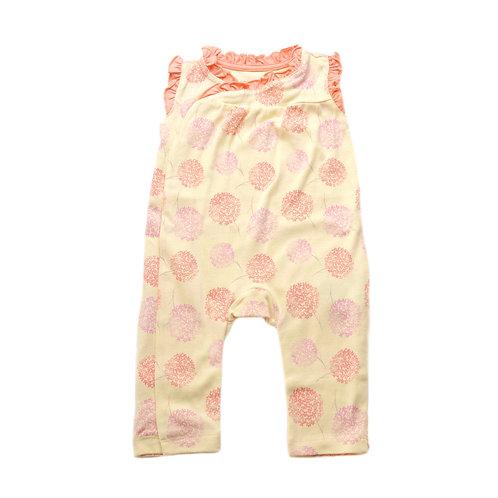 Organic Cotton Baby Romper Pink Bloom